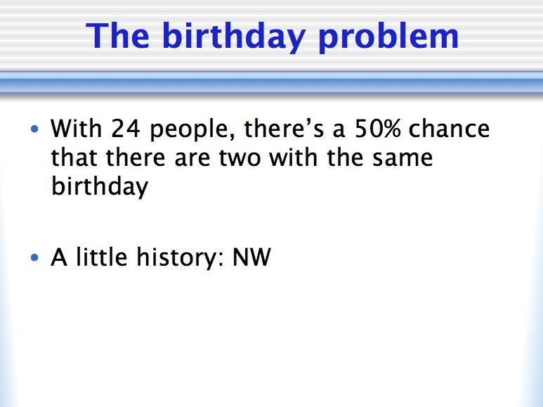 b28BirthdayProblem